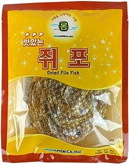 ROM AMERICA [ 8 oz ] Korean Dried Filefish Fillet Fish Jerky 쥐포