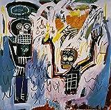 Jean Michel Basquiat, titulo: Angel t6, Litografía OF MODERN TECNIQUE 38x 28cmts press 31x 23cmts. Papel BFK Francia (marca de agua) Edition 150Numered pencil signed pr.???/150