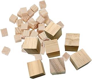 約70個入り ミニキューブ 木製キューブ 盛り合わせ サイズ 天然木 装飾工芸 工作素材