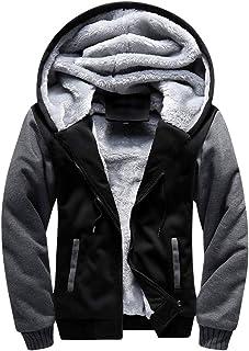 GUOCU Men's Autumn and Winter Thick Warm Fleece Hoodie Sweatshirt Zip Pullover Jumper Jackets Sport Cardigan Plus Size Ove...