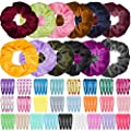 Anezus 100 Pcs Hair Clips Snap Hair Barrettes with 12 Pcs…