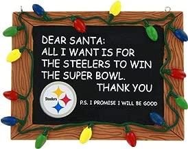 FOCO NFL Team Logo Holiday Christmas Resin Chalkboard Ornament
