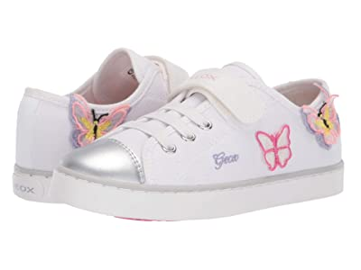 Geox Kids Ciak 72 (Little Kid/Big Kid) (White/Pink) Girl