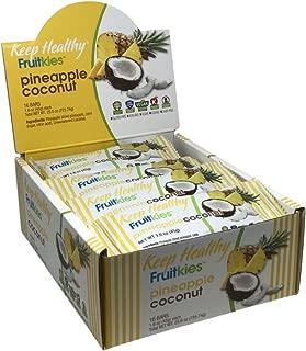 Keep Healthy Pineapple Coconut Fruit Bars | Non-GMO, Gluten Free, Dairy Free, Vegan, Kosher | 1.6 oz. 16 Bars per Box