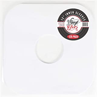 Vinyl Fever Inner Record Sleeves - Heavyweight Acid Free Paper with Rounded Corners for LP Records Storage (125 Pack)