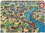 Educa- Mapa de Londres Puzzle, 500 Piezas, Multicolor (18451)