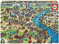 Puzzle de 500 pièces du Plan de Londres de la collection «City Maps». Plan de Londres et de ses principales curiosités qui classe la ville comme une destination unique. Composé de pièces avec une découpe et une finition parfaite. Inclut un sachet d...