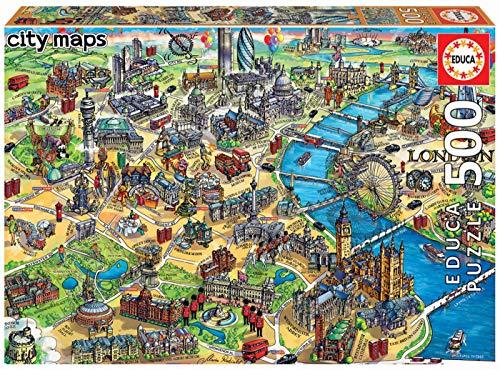Educa - Mapa de Londres Puzzle, 500 Piezas, Multicolor (18451)