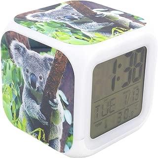 BoFy Led Alarm Clock Australia Koala Pattern Personality Creative Noiseless Multi-Functional Electronic Desk Table Digital Alarm Clock for Unisex Adults Kids Toy Gift