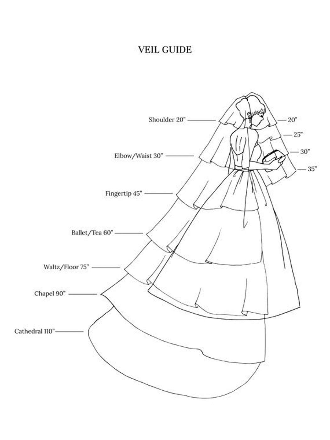 Unicra Bride Wedding Veil 1 Tier Long Bridal Cathedral Tulle Hair Accessories with Comb Wedding Veil Comb for Brides (59