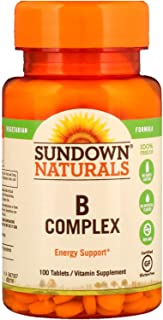 Sundown Naturals B-Complex, Tablets 100 ea (Pack of 12) - Packaging May Vary