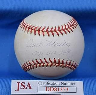 Jack Morris Signed Ball - 91 WS MVP Coa American League - JSA Certified - Autographed Baseballs