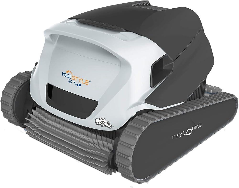 Maytronics dolphin poolstyle 35 digital, robot elettrico pulitore per piscina,fondo piu` pareti piu` linea 3661145010056