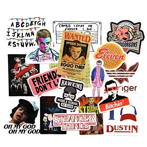 19 Pcs/lot American Montauk Stranger Things Funny Sticker Decal for Car Laptop Bicycle Motorcycle Notebook Waterproof Stickers