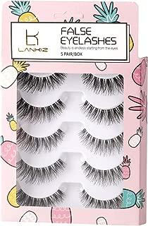5 Pairs 3D False Eyelashes Flexible Reusable Handmade Fake Eye Lashes for Makeup Natural Looking LK LANKIZ