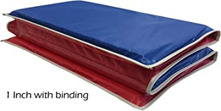 red and blue nap mat