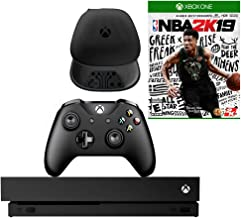 Microsoft Xbox One X 1TB Console with NBA 2K19 and Soft Controller Case Bundle (Renewed)