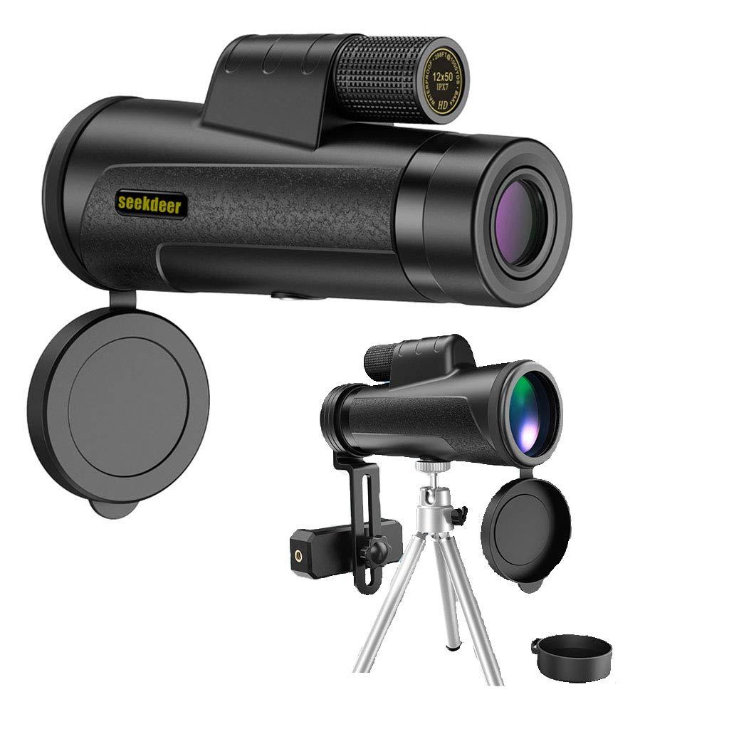 TYXS Telescopio Monocular,12X50 HD Zoom óptico con Trípode Y Adaptador para Smartphone, Extensible para La Observación De Pájaros, Turismo, Caza, Acampada Y Concierto: Amazon.es: Deportes y aire libre