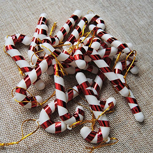 Kicode 12st Weihnachtsbaum Zuckerstange hängend Zuhause Party Festival Weihnachten Dekor Lustig
