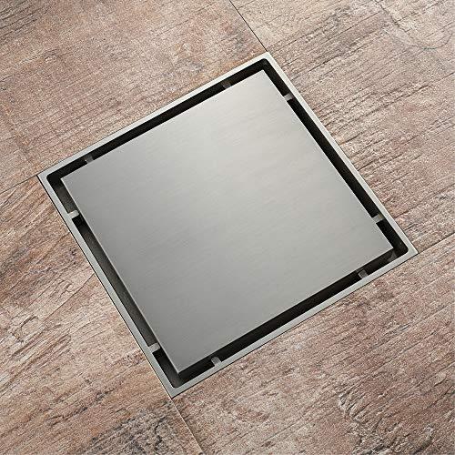 PIJN Bodenablauf Anti-Insekten-Platz versteckter Brushed Deodorant Toilette Abfluss Bodenablauf (Color : Metallic, Size : 150x150x35mm)