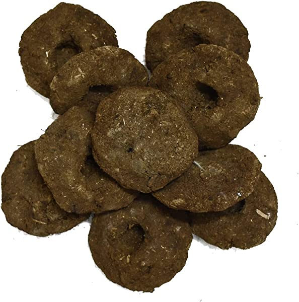 VRINDAVANBAZAAR COM Gobar Upla 100 Cow Dung Cake Completely Dry For Hawan Puja Rituals 100
