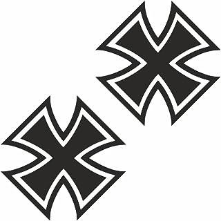 Suchergebnis Auf Für Schwarzes Kreuz Aufkleber Merchandiseprodukte Auto Motorrad
