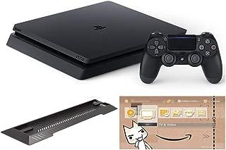 PlayStation 4 ジェット・ブラック 500GB (CUH-2200AB01)【Amazon.co.jp限定】アンサー PS4用縦置きスタンド 付 & オリジナルカスタムテーマ 配信