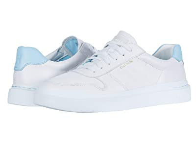 Cole Haan Grandpro Rally Court Sneaker (Optic White/Crystal Blue/Optic White) Women