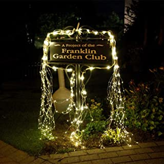 Waterproof Decorative Vine String Lights, 10 Strands 200 Leds Hanging Twinkle Fairy Lights Battery Operated with Remote Timer Silver Wire Timbo Starry Lights for Outdoor, Garden, Christmas Tree