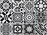 The Nisha 24 PC Pack (4 X 4) Art Eclectic Peel and Stick Wall Sticky Backsplash Vinyl Waterproof Removable Tile Sticker Decals for Bathroom & Kitchen, 4x4 Inch, Black & White 1272