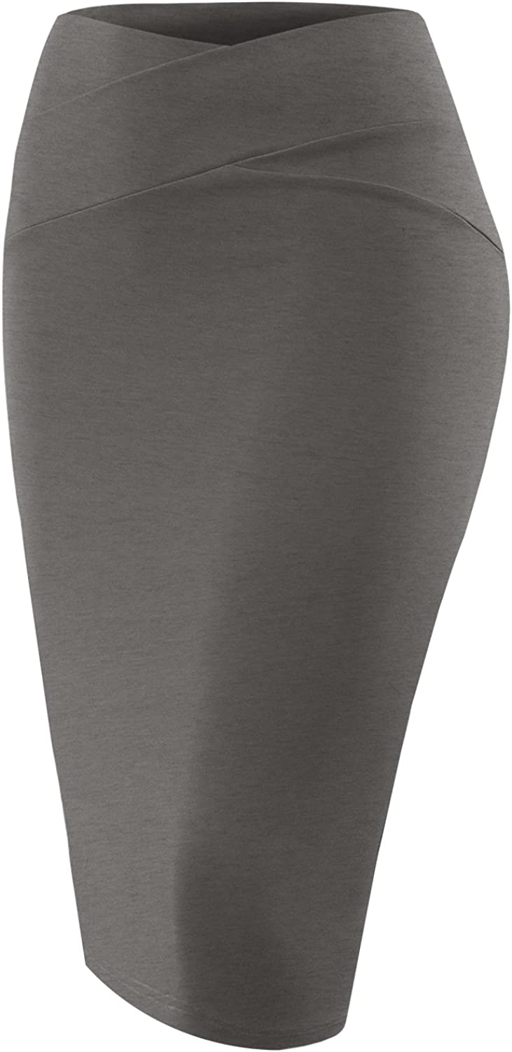 All for You Women's Slim Fit Skirts Challenge the lowest price Ponte Ma favorite Pencil Midi Bodycon