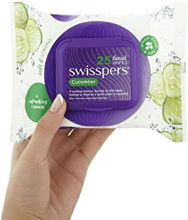 Swisspers Cucumber Facial Wipes 25 Pack