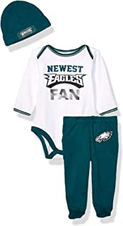 NFL Boys 3 Piece Bodysuit Footed Pant and Cap