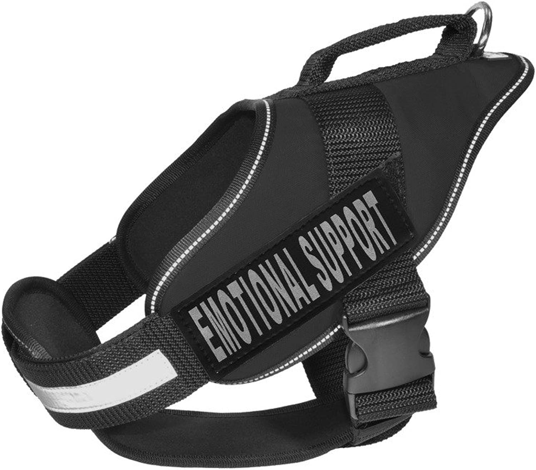 Dogline N020610232 Alpha Nylon Service Vest Harness, Medium, Black