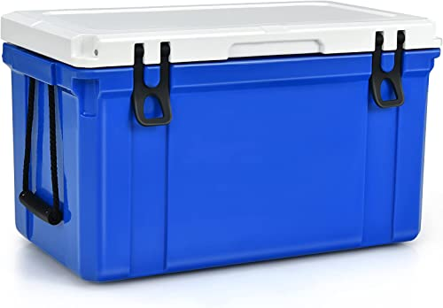 high quality Giantex new arrival Portable Cooler, new arrival 26 / 58 / 79 Quart 3-4 Days Camping Ice Chest with Stainless Handles / Nylon Rope Handle, PE & PU Materials Beverage Cooler for Picnic, Hiking, BBQ, Party online