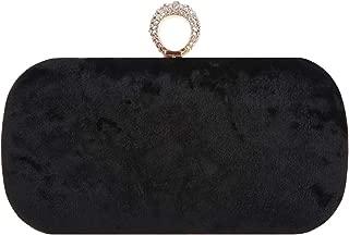Rhinestone Evening Bag Velvet Ring Clutch For Women