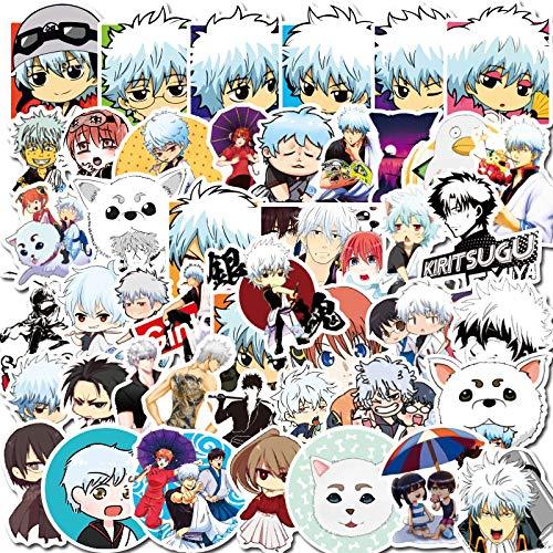 MBGM 50 unids Niman Gin Anime pegatinas tama lindo dibujos animados emoticono pegatinas teléfono móvil agua taza carro caja impermeable graffiti pegatinas al por mayor