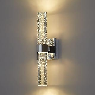 LED-Badezimmer-Wandleuchte,Kristallglas mit Bubbles Badlampe,Moderne 3000K innen Spiegelleuchte mit Wandbeleuchtung(10W /4...