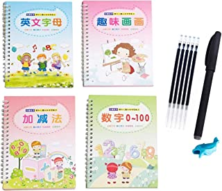 Reusable Magic Exercise Copybook, Magic Calligraphy That Can Be Reused Handwriting Copybook Set Tracing Book for Kids