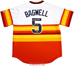Jeff Bagwell Autographed Jersey - Rainbow Replica Inscribed HOF 2017 - Autographed MLB Jerseys