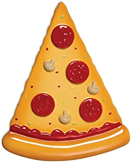 Grantwood Technology Personalized Christmas Ornaments Pizza Slice/Personalized by Santa/Pizza Ornament/Pizza Christmas Ornament