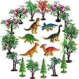 OrgMemory Bäume Kuchen Dekorationen, Modellbau Bäume mit Basen, 21 Stück, Dinosaurier Figuren...
