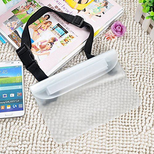 Empire Choice Waterproof Bags with Waist Shoulder Strap Best Dry Pouch Case to Keep Phone and Valuables Dry and Safe Perfect for Boating Swimming Snorkeling Kayaking Beach Water Parks (Clear)
