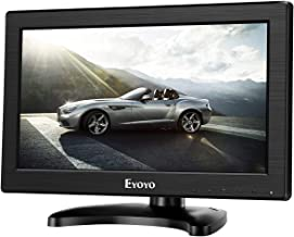 "Eyoyo 12"" Inch TFT LCD Monitor with AV HDMI BNC VGA Input 1366x768 Portable Mini HD Color Screen Display with Built-in Spe..."