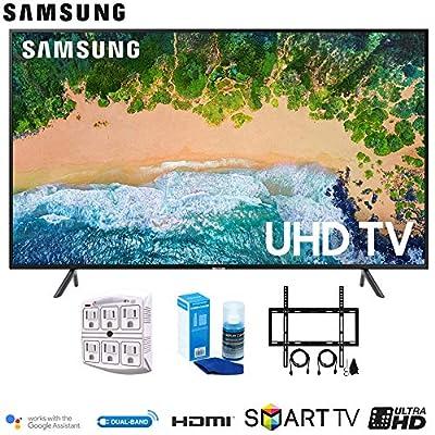 Samsung NU7100 Smart 4K UHD TV 2018 w/Wall Mount + Cleaning Kit