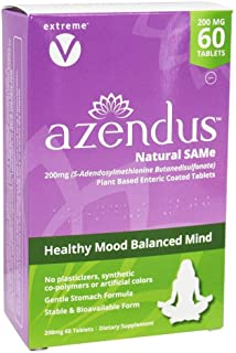 Azendus SAM-e Mood Support 200mg per Tablet, 60 Count, Same Tablets, Physician Trusted, 1 Recommended Activ...