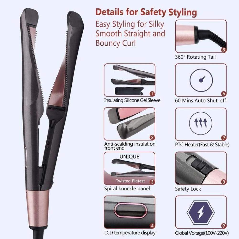 Professional 2 in 1 Twist Hair Curling Straightening Iron Hair Straightener Curler Flat Iron Hair Straightener Styling Tools VIP-1296 no box_ME 1296 no box jEYlT