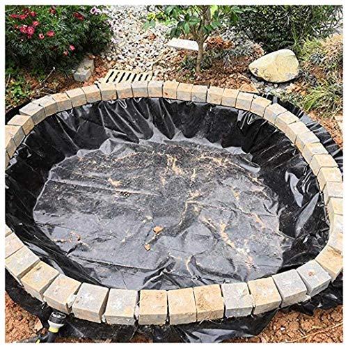 ZHANGZHIPENG Folia do stawu, stawu, folia ogrodowa, elastyczna liner, czarna, do stawu rybnego, fontanny strumieniowej i wodnej, odporna na działanie promieni UV i warunków atmosferycznych folia do stawu (kolor: czarny, rozmiar: 3 x 9 m)