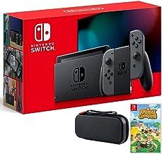 Nintendo Switch Bundle w/Game & Case: Nintendo Switch 32GB Consola con Gray Joy-Con, Animal Crossing New Horizons Game, Ti...
