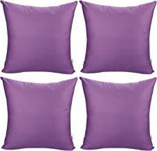 4-Pack Cotton Comfortable Solid Decorative Throw Pillow Case Square Cushion Cover Pillowcase (Cover Only,No Insert) (24x24...